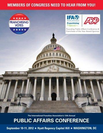 public affairs conference - International Franchise Association
