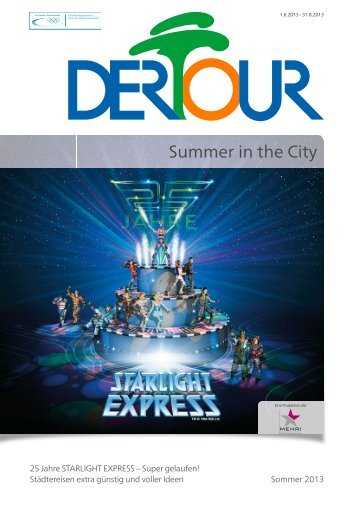 DERTOUR - Summer In The City - Sommer 2013 - First Reisebüro