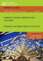 DOMESTIC HOUSE CONSTRUCTION FOR FWPA Schematic Cost ...