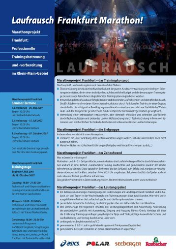 Laufrausch Frankfurt Marathon! - BMW Frankfurt Marathon