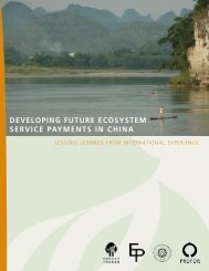 developing future ecosystem service payments in ... - Forest Trends