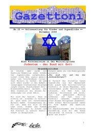 Judentum – der Bund mit Gott - Gazettoni