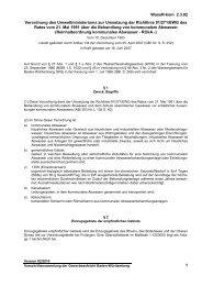 Verordnung des Umweltministeriums zur Umsetzung der Richtlinie ...