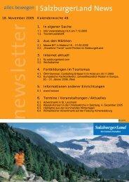 18. November 2005 Kalenderwoche 46 1. In eigener Sache 2. Aus ...