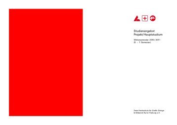 Grafikdesign Handout Hauptstudium - Freie Hochschule Freiburg