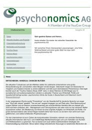 PSYCHONOMICS NEWSLETTER (28) - DEZEMBER 2008 - Yougov