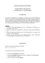 Fächerbündel - Franziskanergymnasium Bozen