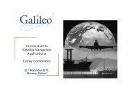Introduction to Satellite Navigation Applications ... - Galileo Services