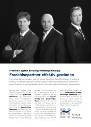 PARTNERGEWINNUNG - Franchise System Beratung® - Johannes ...