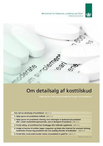 Om detailsalg af kosttilskud - Fødevarestyrelsen