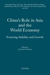 China's Role in Asia and the - FONDAD Forum on Debt and ...