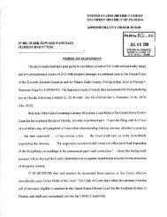 In re Order of Suspension of Attorney Mark Edward Panunzio Florida ...