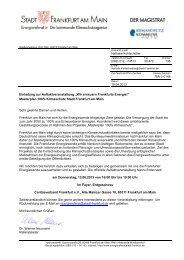 Einladung und Programm - Frankfurt Green City