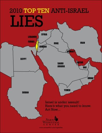 2010 top ten anti-israel lies - Simon Wiesenthal Center