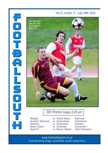 24th July 2010 - Football South