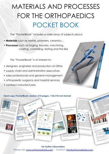 materials and processes for the orthopaedics pocket book - forecreu