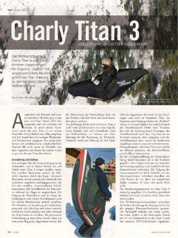 Das Wettkampfgurtzeug Charly Titan wurde voll - Flugschule Hochries
