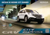 Ontdek de CR-V City Runner - Honda