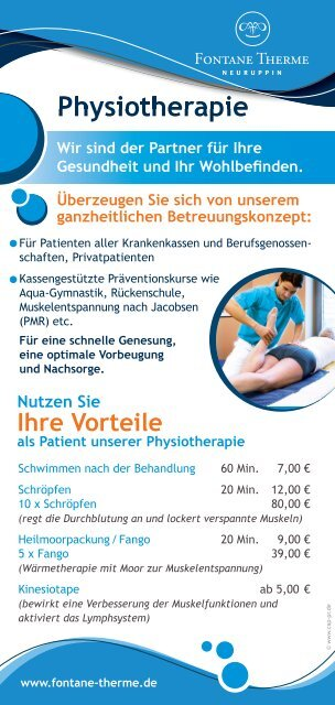 Physiotherapie - Fontane Therme