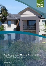 Growth Area Model Planning Permit Conditions A Manual for ...