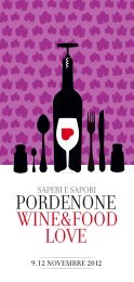 Programma Pordenone Wine Food Love - CCIAA di Pordenone ...