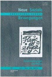 Vollversion (5.82 MB) - Forschungsjournal Soziale Bewegungen