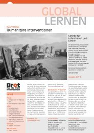 Humanitäre Interventionen - Brot für die Welt