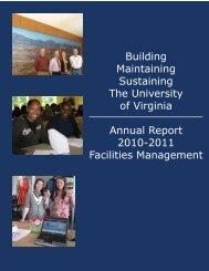 Building Maintaining Sustaining The University of Virginia - Facilities ...