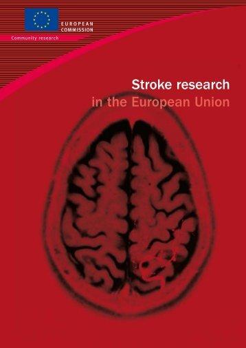 Stroke research in the European Union - 2007 - Europa