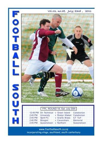 30th July 2011 - Football South