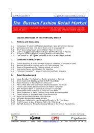 The Russian Fashion Retail Market - Igedo Company