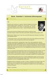 Splash - Newsletter 8 - limitierende ... - Froschkoenige.ch