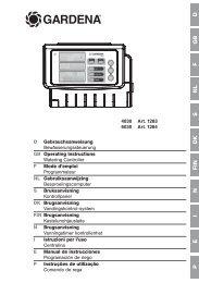 OM, Gardena, Watering Controller, Art 01283-20, Art 01284-20 ...