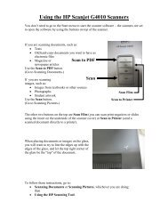Using the HP Scanjet G4010 Scanners