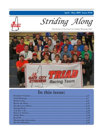 2009 April / May Newsletter - Gate City Striders
