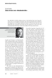 Zwei Arten von »Medienkritik« - Neue Gesellschaft Frankfurter Hefte