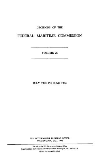 VOJPDoM - Federal Maritime Commission