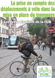 Télécharger les résultats de l'étude FUB vélo et tramway