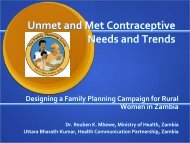 Rationale for the National Family Planning Campaign - International ...