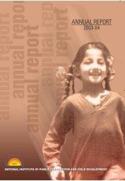 Annual Report 2003-2004 ? English version - Nipccd