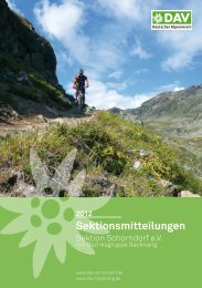 Download der Sektionsmitteilungen 2012 - DAV Sektion Schorndorf