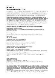 MOERSCH SPECIAL EDITION 5 LITH - Fotoimpex