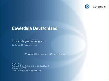 Präsentation von Ralph Schubert, Coverdale Deutschland