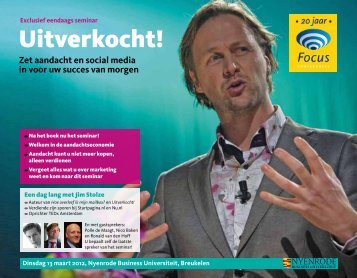 Uitverkocht! - Focus Conferences