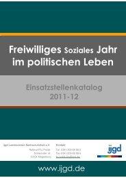 Freiwilliges Soziales Jahr im politischen Leben - freiwilligdabei.de