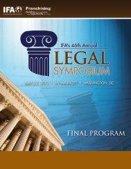 FINAL PROGRAM - International Franchise Association
