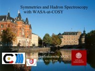 Symmetries and Hadron Spectroscopy with WASA-at-COSY