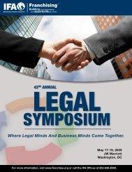 42nd ANNUAL LEGAL SYMPOSIUM - International Franchise ...