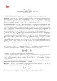 Wykład 13 i 14 - Twierdzenie Stokes'a, wzory analizy wektorowej