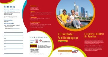 2. Frankfurter Familienkongress - Frankfurter Bündnis für Familien